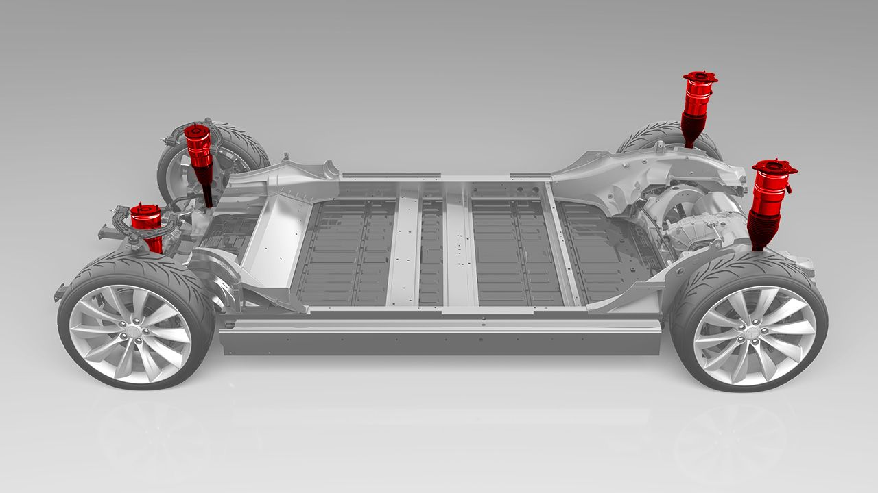 Tesla Suspension 車 フレーム