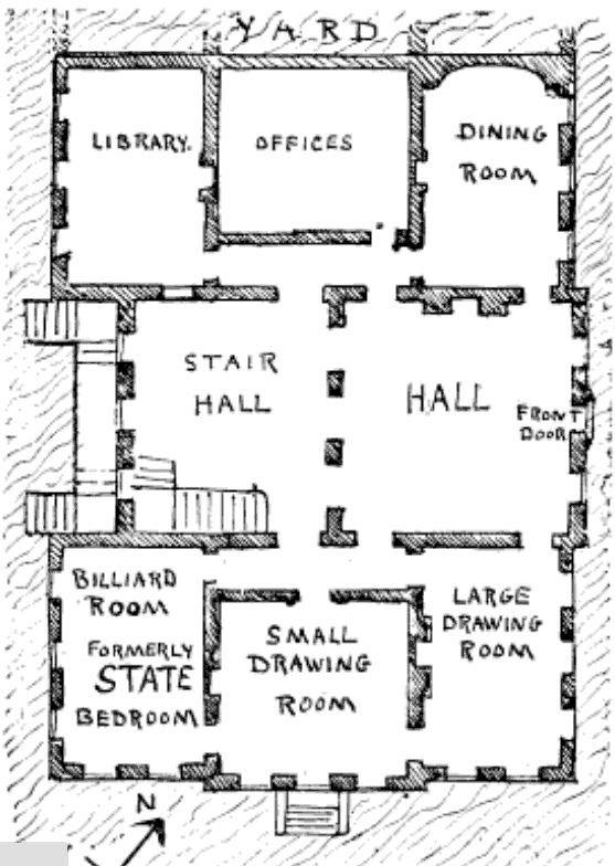 299 Mawley Hall Plan Ground Floor Mansion Floor Plan Mansion Plans Baroque Interior