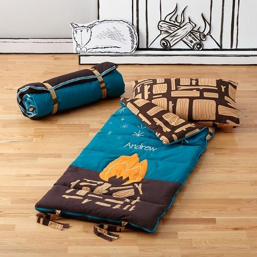 The Great Indoors Sleeping Bag in  from The Land of Nod on shop.CatalogSpree.com, your personal digital mall.