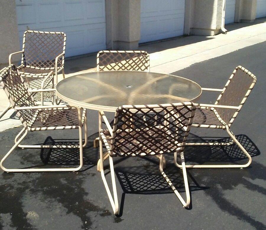 Brown Jordan Lido Patio Set Table, Brown Jordan Patio Furniture