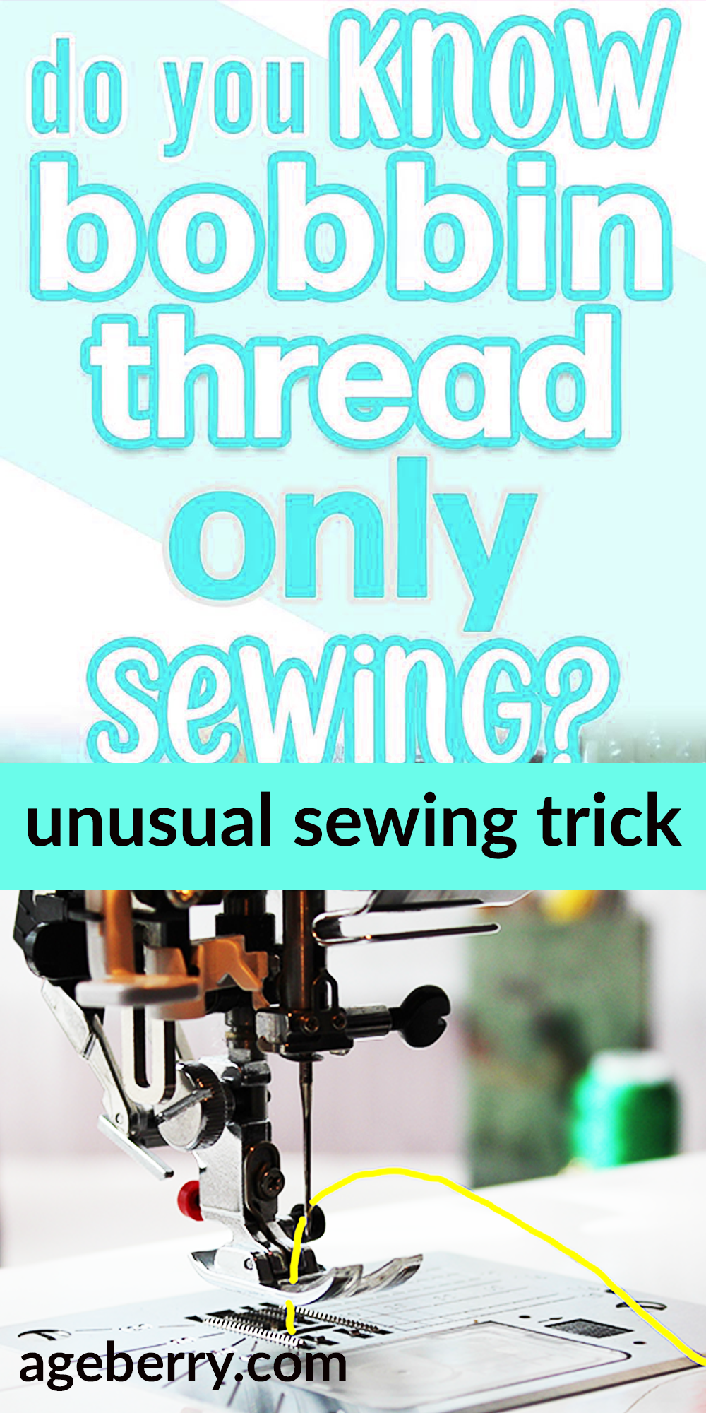 Photo of Cool sewing trick: how to sew with the bobbin thread in the needle