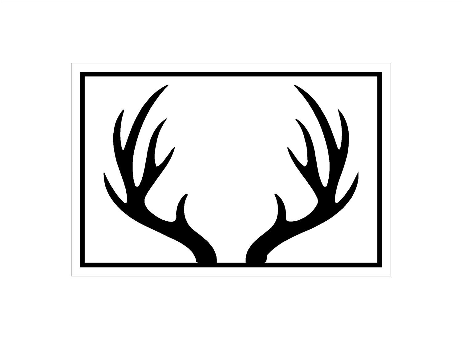 Decisive image with printable deer antlers