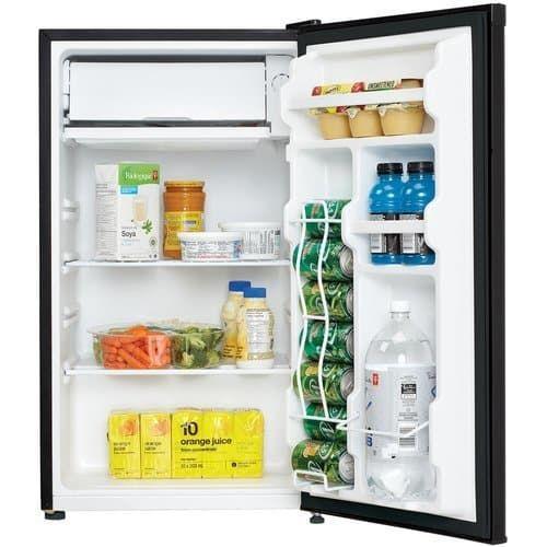 Danby Energy Star 3 2 Cu Ft Refrigerator Freezer Black Secondary Image Compact Refrigerator Refrigerator Refrigerator Freezer