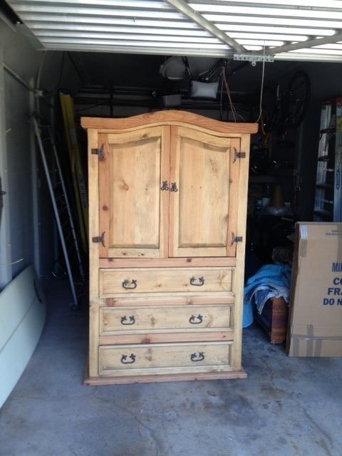 Superieur Beautiful Mexican Rustic Pine Armoire (Local Pick Up Only)