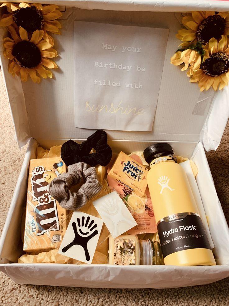 Geburtstagsgeschenk Sonnenschein Box - #Box #Geburtstagsgeschenk #sonnenschein #diygeburtstagsgeschenke