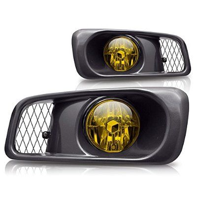 Premium 2pc Fog Lights Fit 99 00 Honda Civic Si Type R Oem Fog Lights Yellow Lens Wiring Kit Included Ligh Honda Civic 2000 Honda Civic Honda Civic Coupe