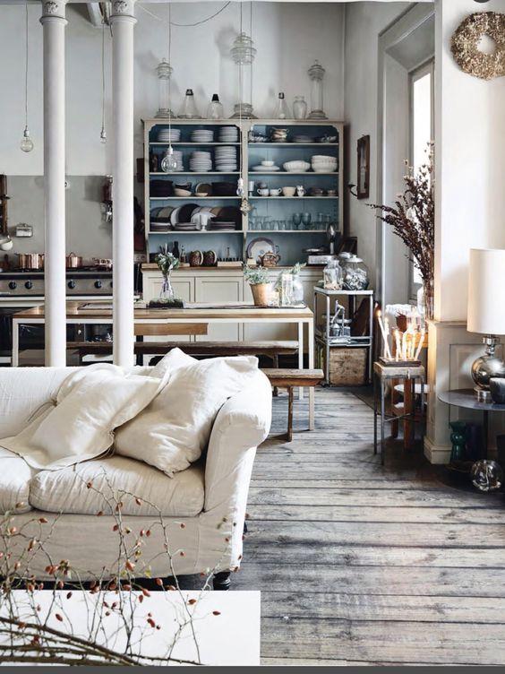 Gemütlich rustikale Küche Küchen-Inspiration Pinterest - einrichtung im industriellen wohnstil ideen loftartiges ambiente