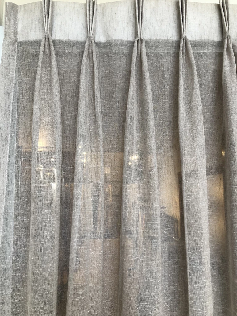 Pinch Pleat Sheer Curtains With Blinds Pinch Pleat Sheer