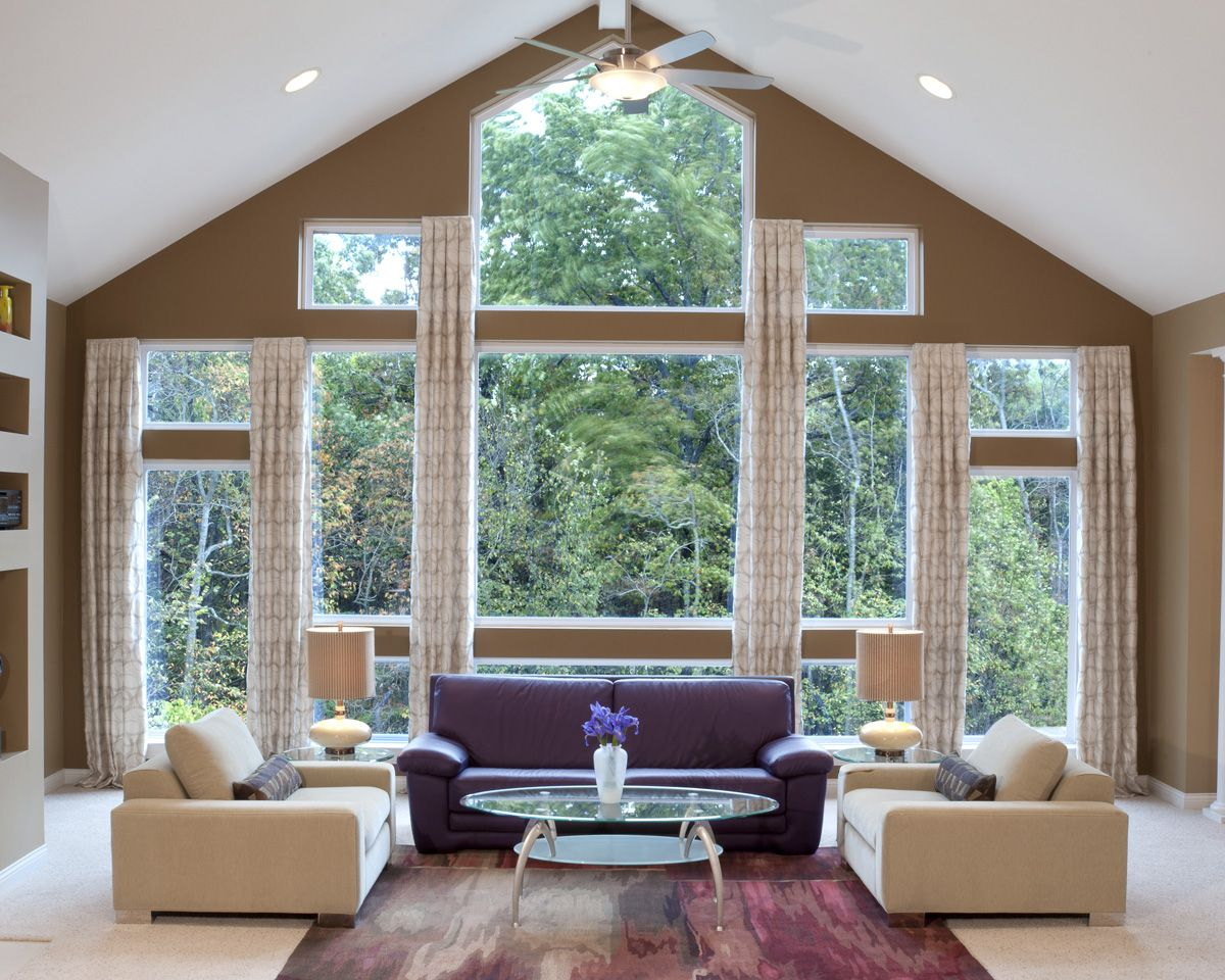 Do you think you have too many windows or that your - Living room window treatments for large windows ...