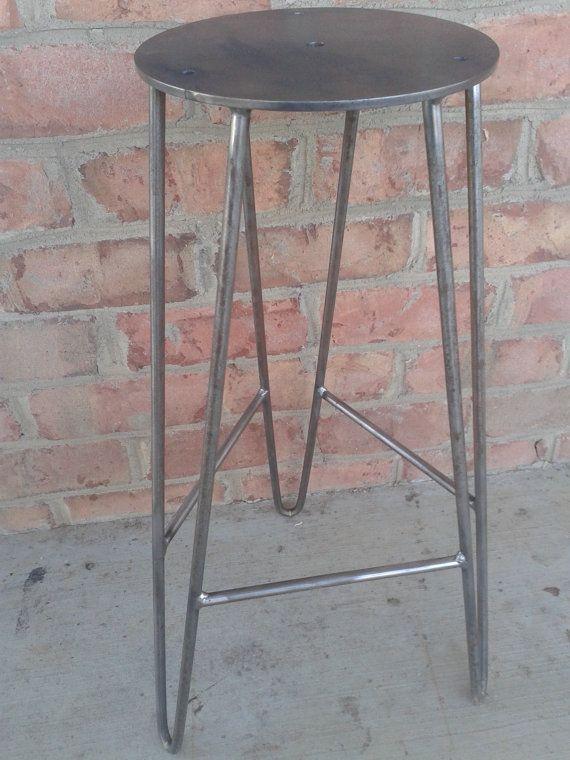 Wondrous Raw Steel Hairpin Bar Stool Base Diy Custom Heights Pdpeps Interior Chair Design Pdpepsorg
