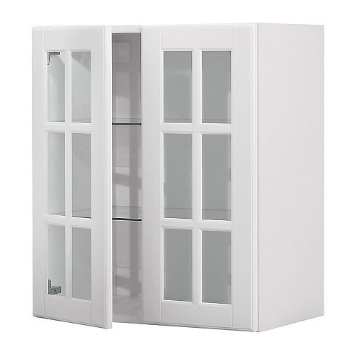 Faktum Wall Cabinet With 2 Glass Doors Ikea You Can Customise Spacing As You Need