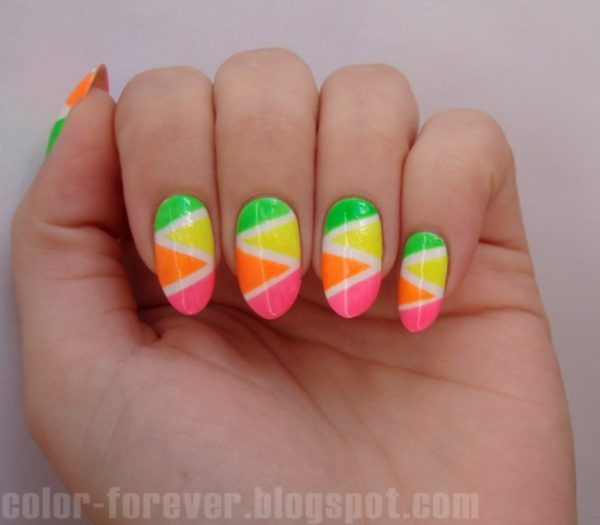 Image result for neon nail designs