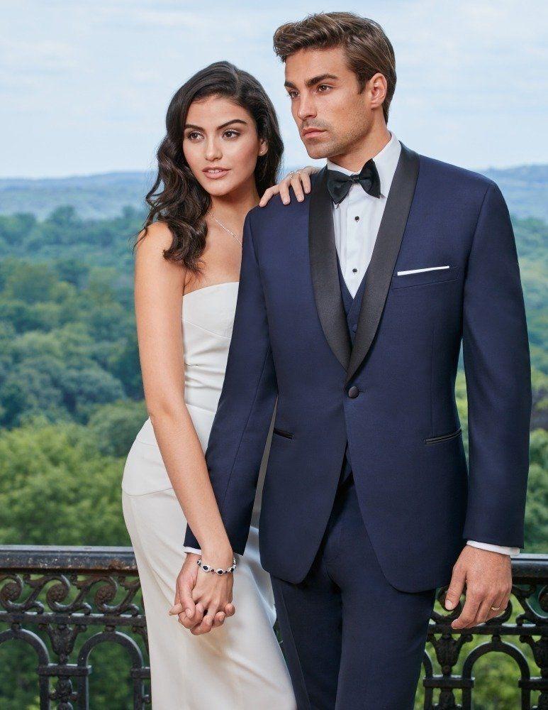 c0d538c4f731 Navy Blue Shawl Lapel Hudson Tuxedo by Ike Behar® in 2019 | Wedding ...