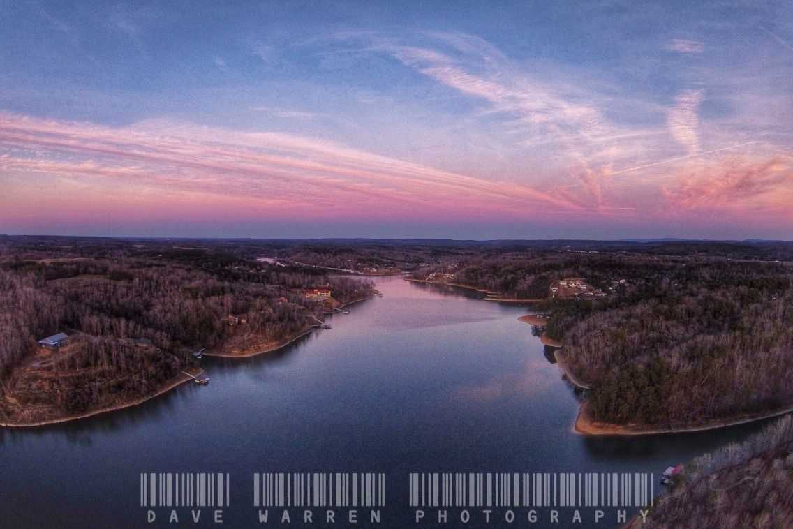 Aerial picture of smith lake in cullman alabama lake