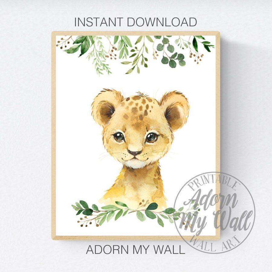 unique nursery art wild animals custom personalised wall art sarafi guest book baby shower or zoo wedding printed keepsake artwork