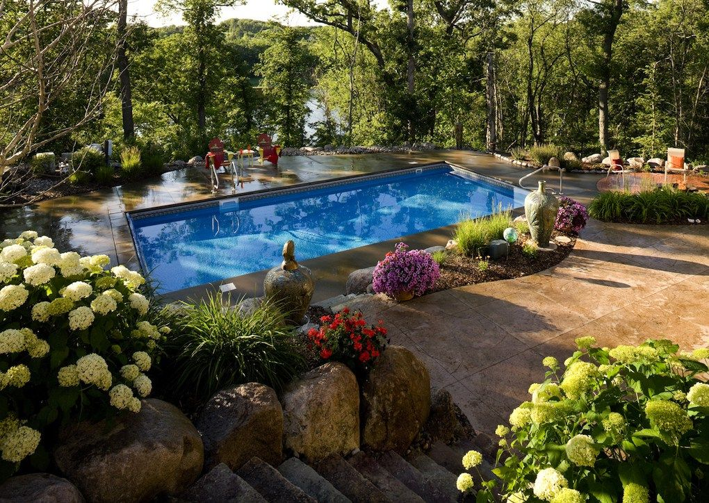 Midwest Backyard Pools Midwest Home Pool Landscaping Backyard