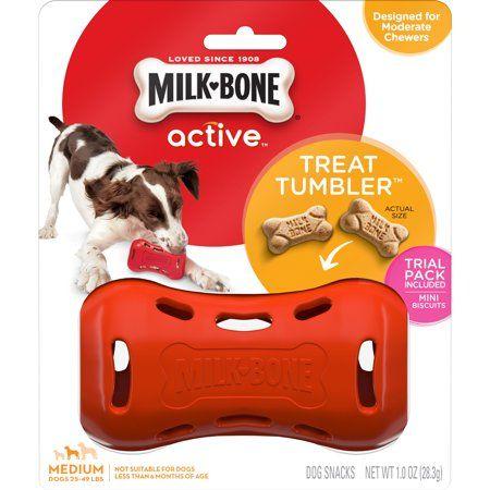 Interactive Dog Toys Milk-Bone Treat Tumbler Interactive Dog Toy, Medium - Walmart.com