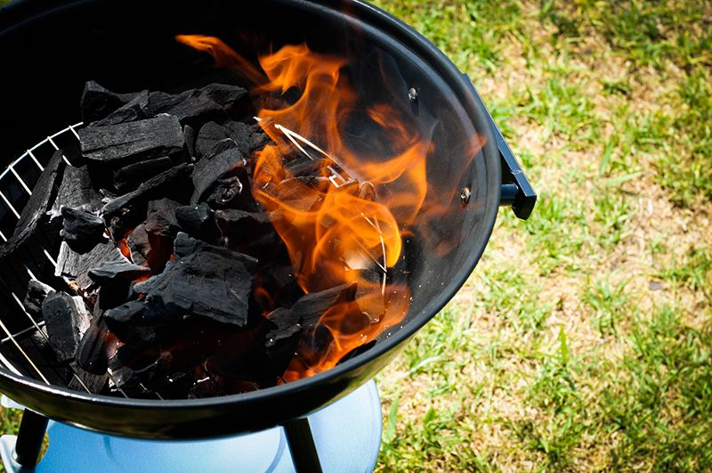 Light up a Charcoal Grill without using Lighter Fluid