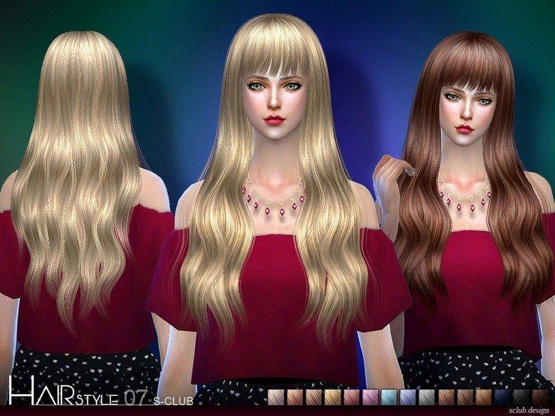 S Club Ts4 Hair N7 The Sims 4 Catalog Sims 4 Hair Male Club Hairstyles Womens Hairstyles