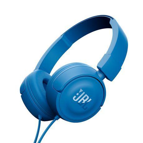 Jbl T450 On Ear Headphones Blue Headphones In Ear Headphones Best Headphones