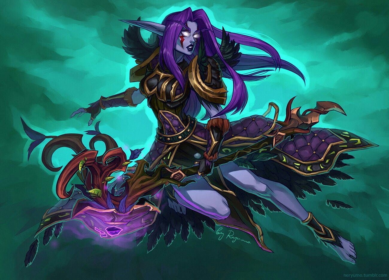 night elf of warcraft female World