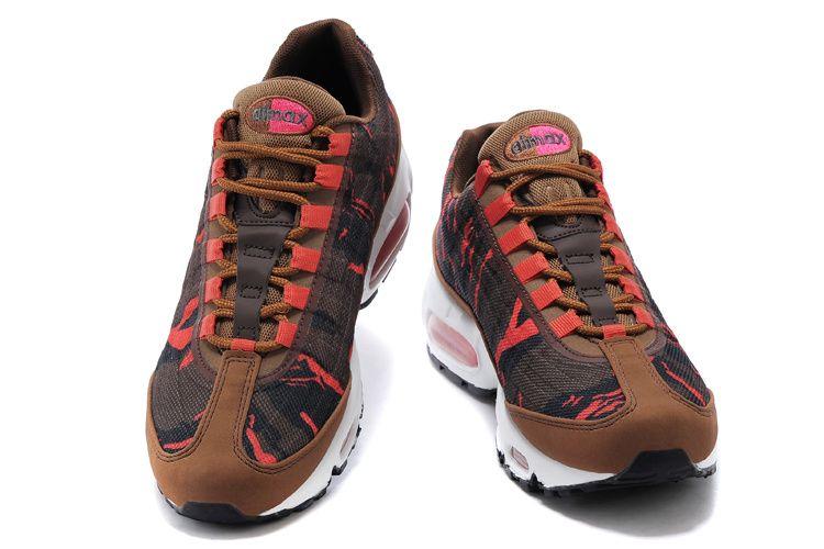 tout neuf dacf9 ece57 Nike Air Max 95 Premium Tape Homme Chaussures Brun Noir ...