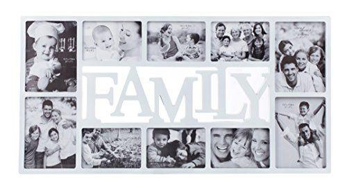 Home Value Family 10 Opening Collage Frame, White (PICFRAMEHF002 ...