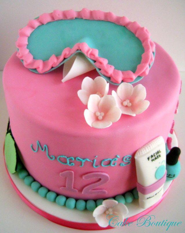 Spa Cake Cake Boutique Cakes Pinterest Spa Cake Spa And Cake - Spa birthday party cake