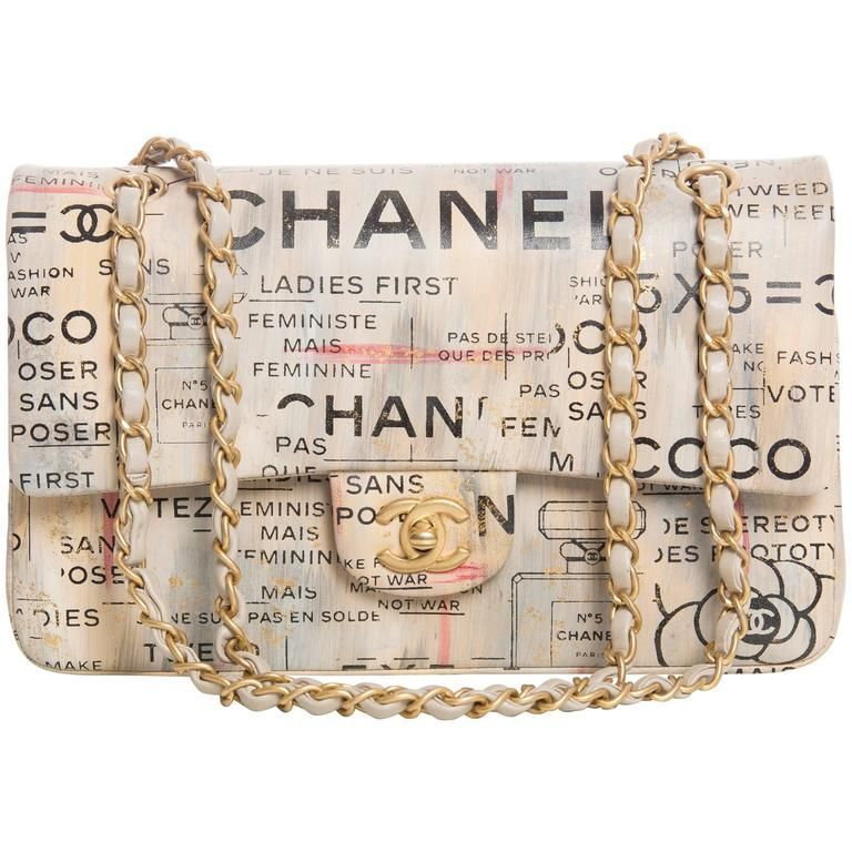 d3e2051ab198 Chanel Limited Edition Graffiti Newspaper Print Double Flap Bag, Spring  2015