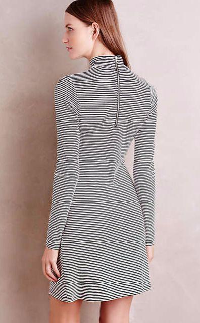da051461c4 Striped Turtleneck Dress  anthrofave