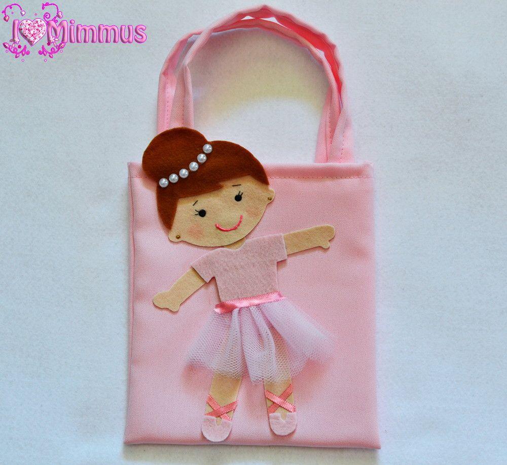 11b9525e24 Sacolinha surpresa ou sacolinha para lembrancinhas no tema Bailarina ...