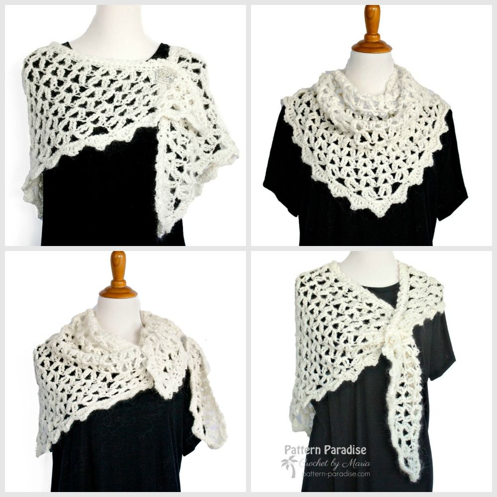 Free Crochet Pattern: Parisian Hug Wrap & Giveaway | Crochet Scarves ...