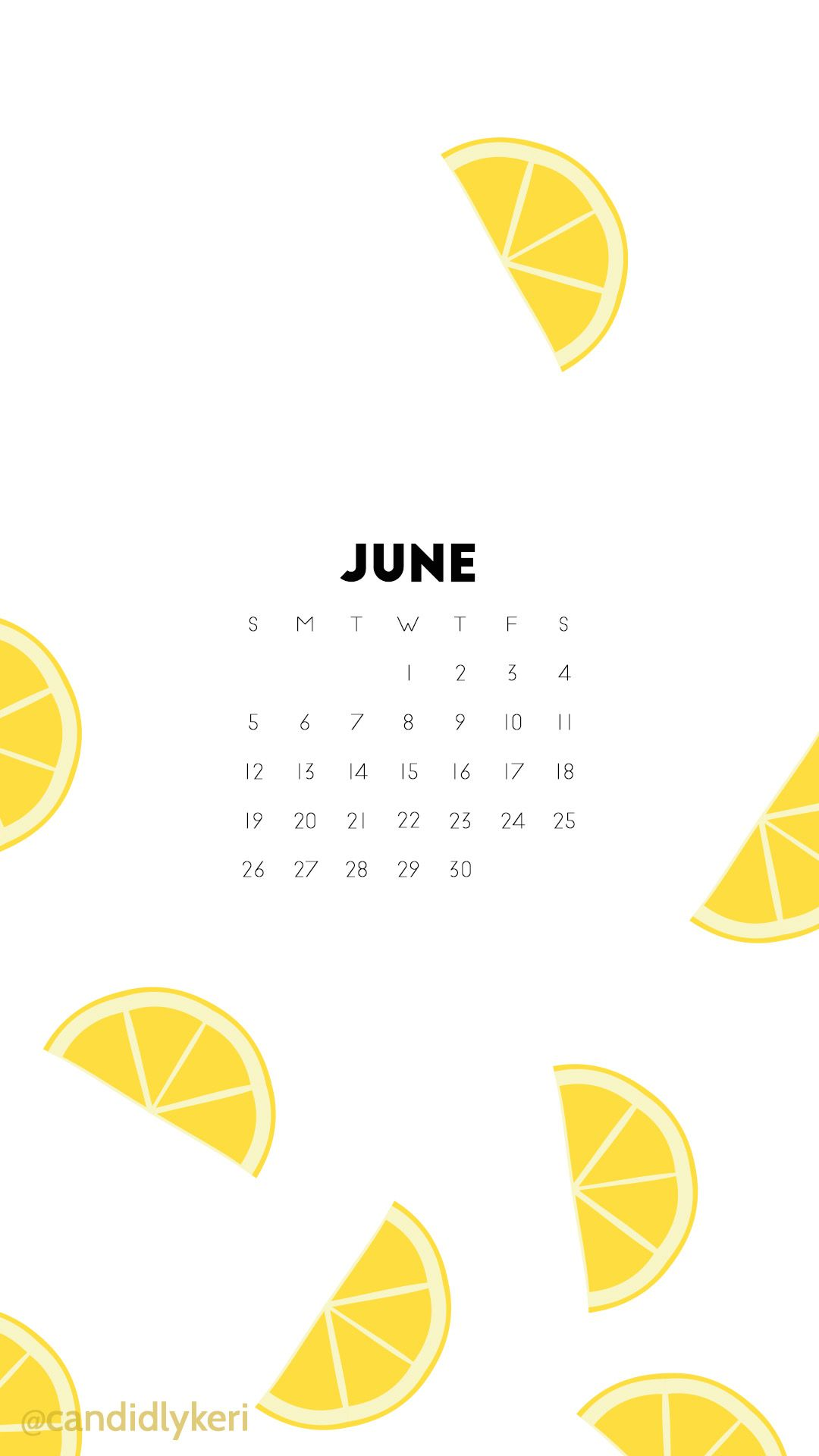 lemon fun lemonade june 2016 calendar wallpaper free download for iphone android or desktop background on