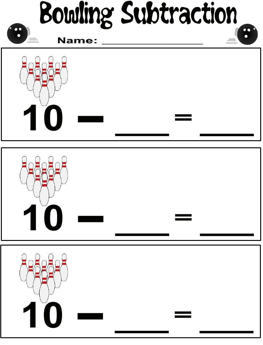Bowling subtraction -- would work great for parts of 10. Also would ...