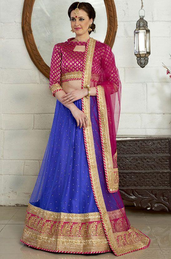 11d02659ce4 Gorgeous Royal Blue Lehenga Choli