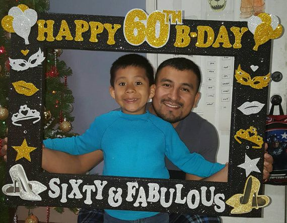 50th , 60th Birthday , Fifty or Sixty and Fabulous Photo Booth Frame