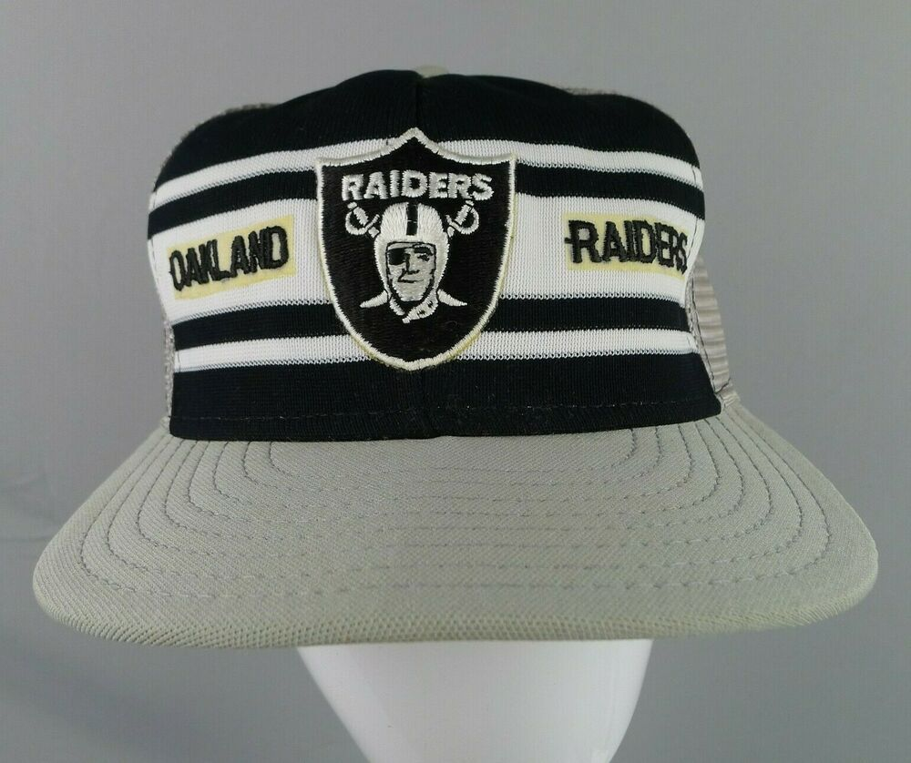 ac542b7a Vintage NFL Oakland Raiders Hat Snap Back Striped AJD 80's Double ...