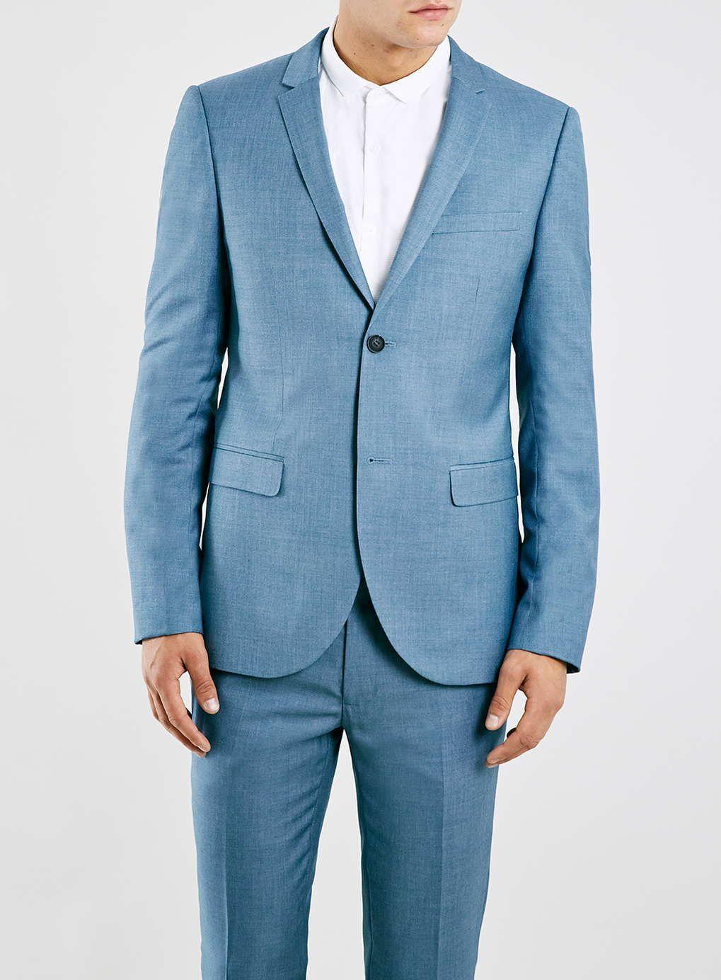 Light Blue Textured Skinny Fit Suit Jacket | Pinterest | Skinny fit ...
