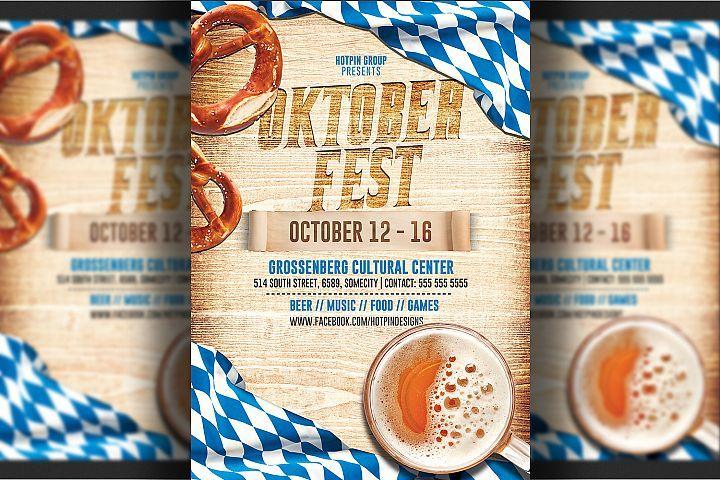 Download Oktoberfest Flyer Template 290146 Flyers Design Bundles Flyer Template Flyer Oktoberfest