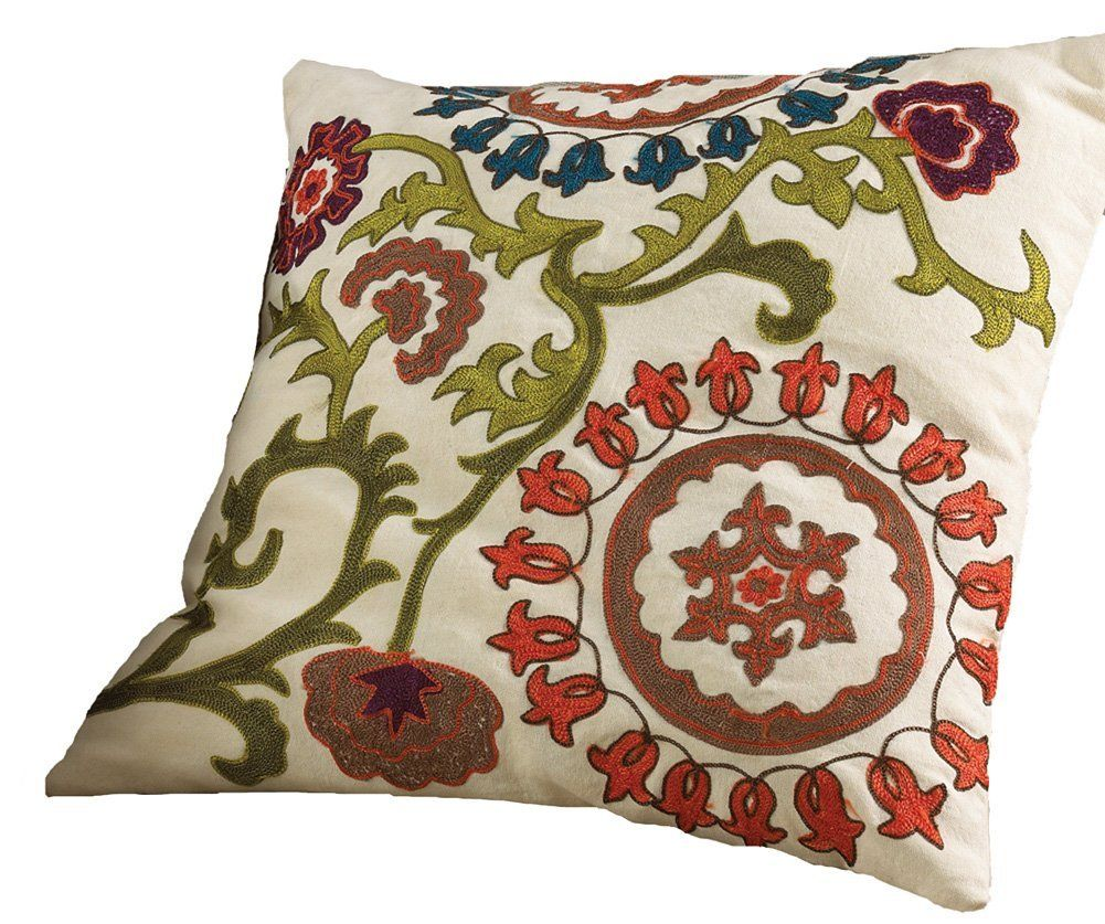 Embroidered Throw Pillows Image | Home item | Pinterest | Throw ...