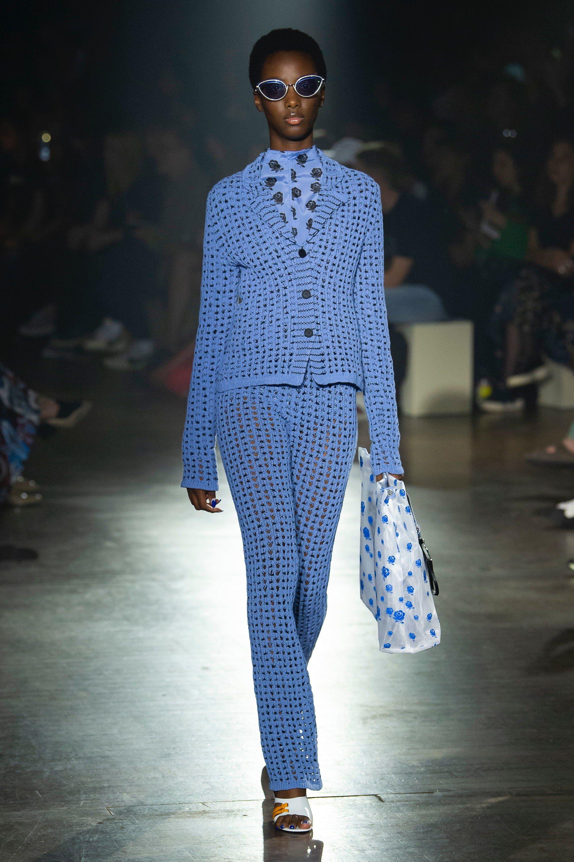 10f9edcb5728 2019 spring Kenzo big mesh blazer and pants