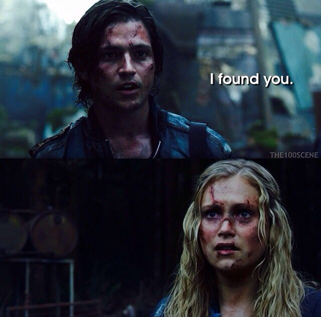 The fact that she backs away from him - unlike when she runs into Bellamy's arms ❤️ <<< exactly