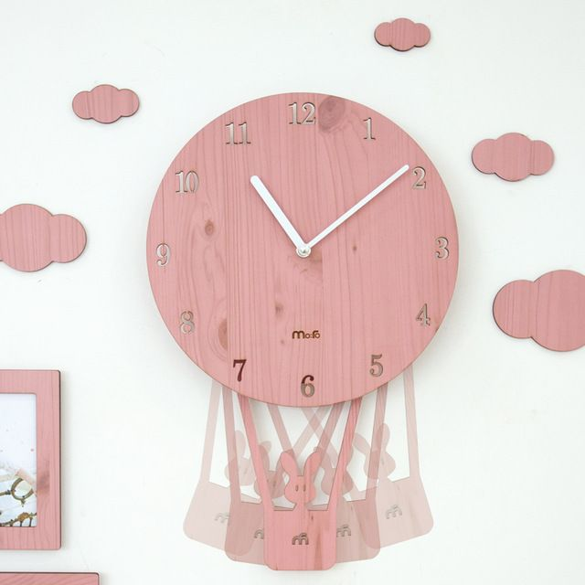 Special price 4 Colors Pink Carton Kids Room Wall Clocks Unique ...