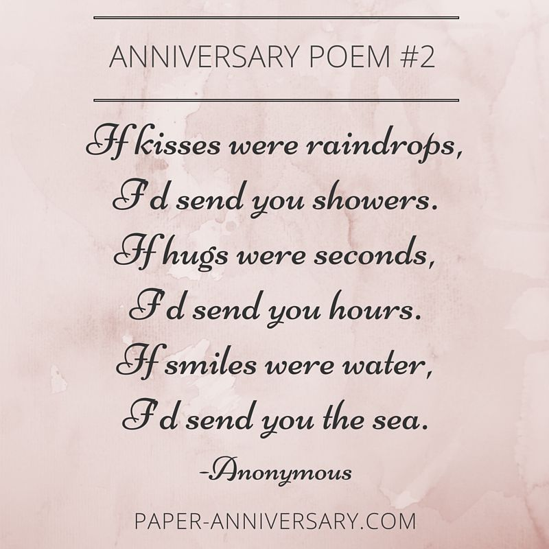 Beautiful Anniversary Poems To Inspire  Anniversary Poems