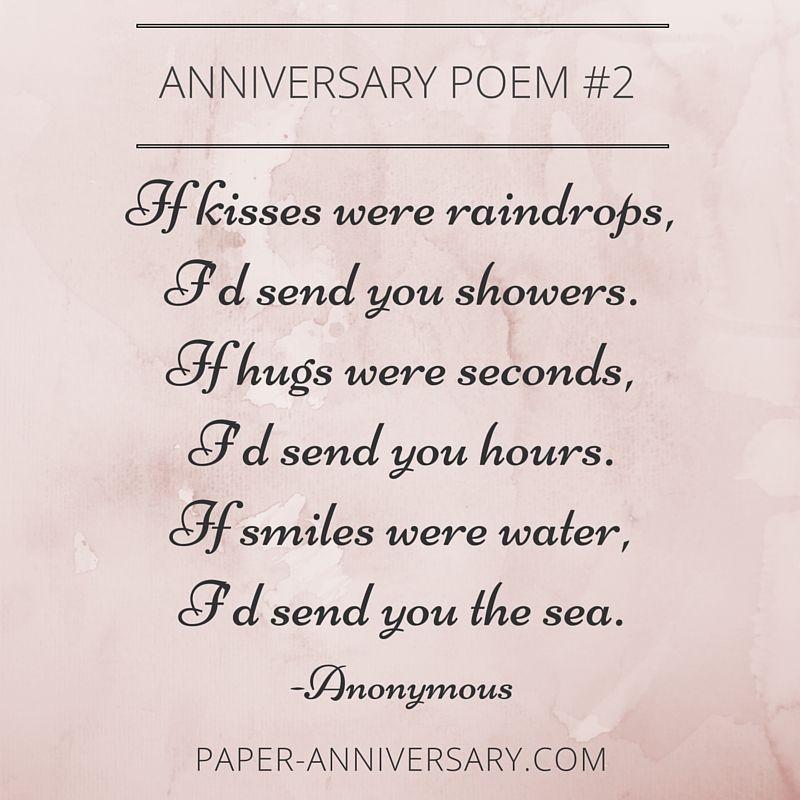 Beautiful anniversary poems to inspire