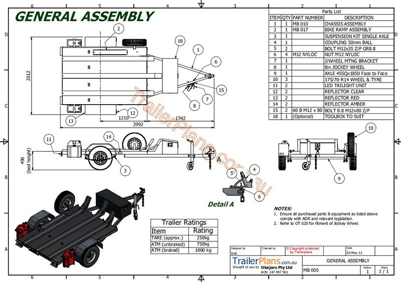 tilt bed trailer wiring diagram