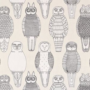 Abigail Edwards owls of the british isles wallpaper