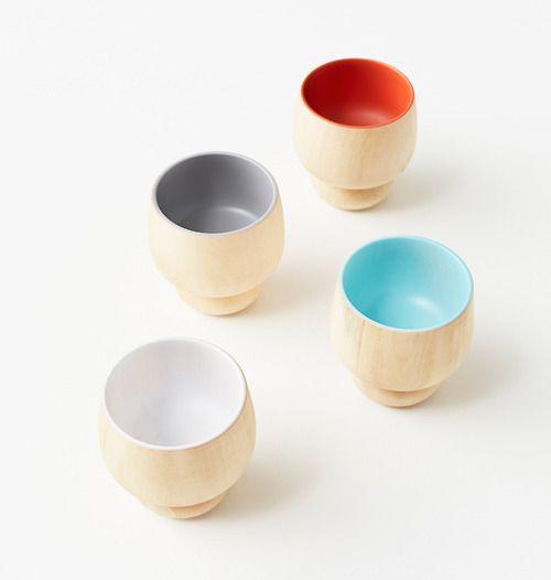 lump-bowl, lump-cup, and lump-plate - Nendo for Urushi Kobo Oshima