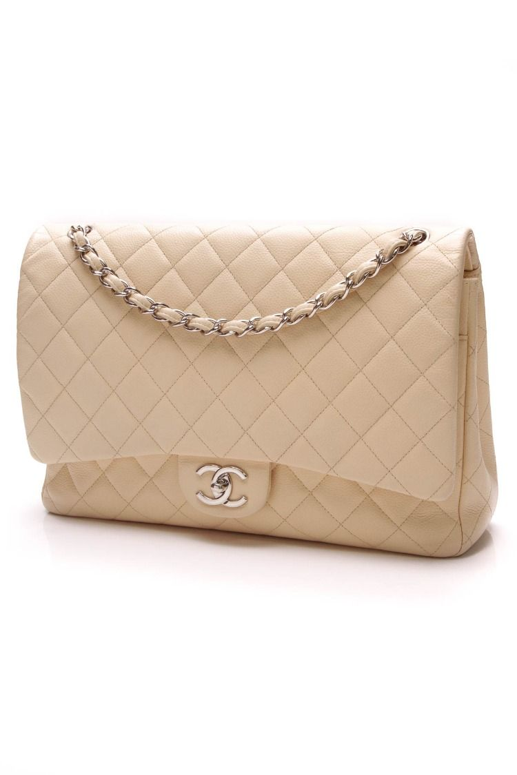 26724f86013d Classic Double Flap Bag - Maxi Beige Caviar in 2019 | Crazy for Coco ...