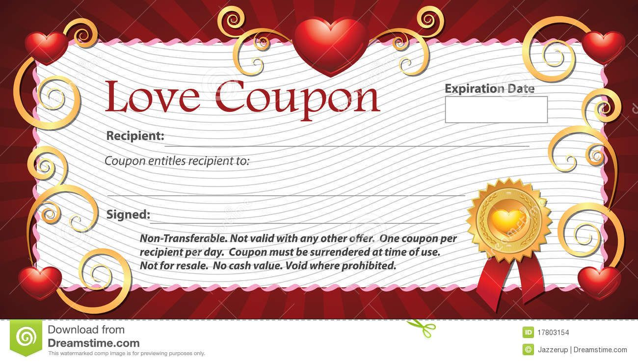 Gift Certificate Template Free Printable Valentine Coupon